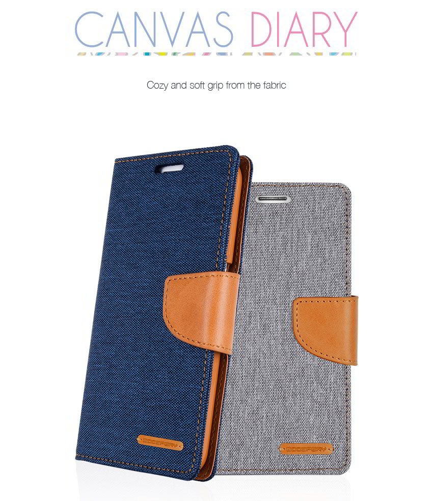 Goospery Canvas Diary Iphone X Hybrid Dream Bumper Case Red