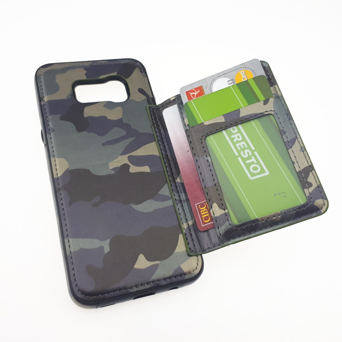Goospery Canvas Diary Samsung Galaxy S8 Plus Case Gray Tni Camo Leather With Credit Card Holder For