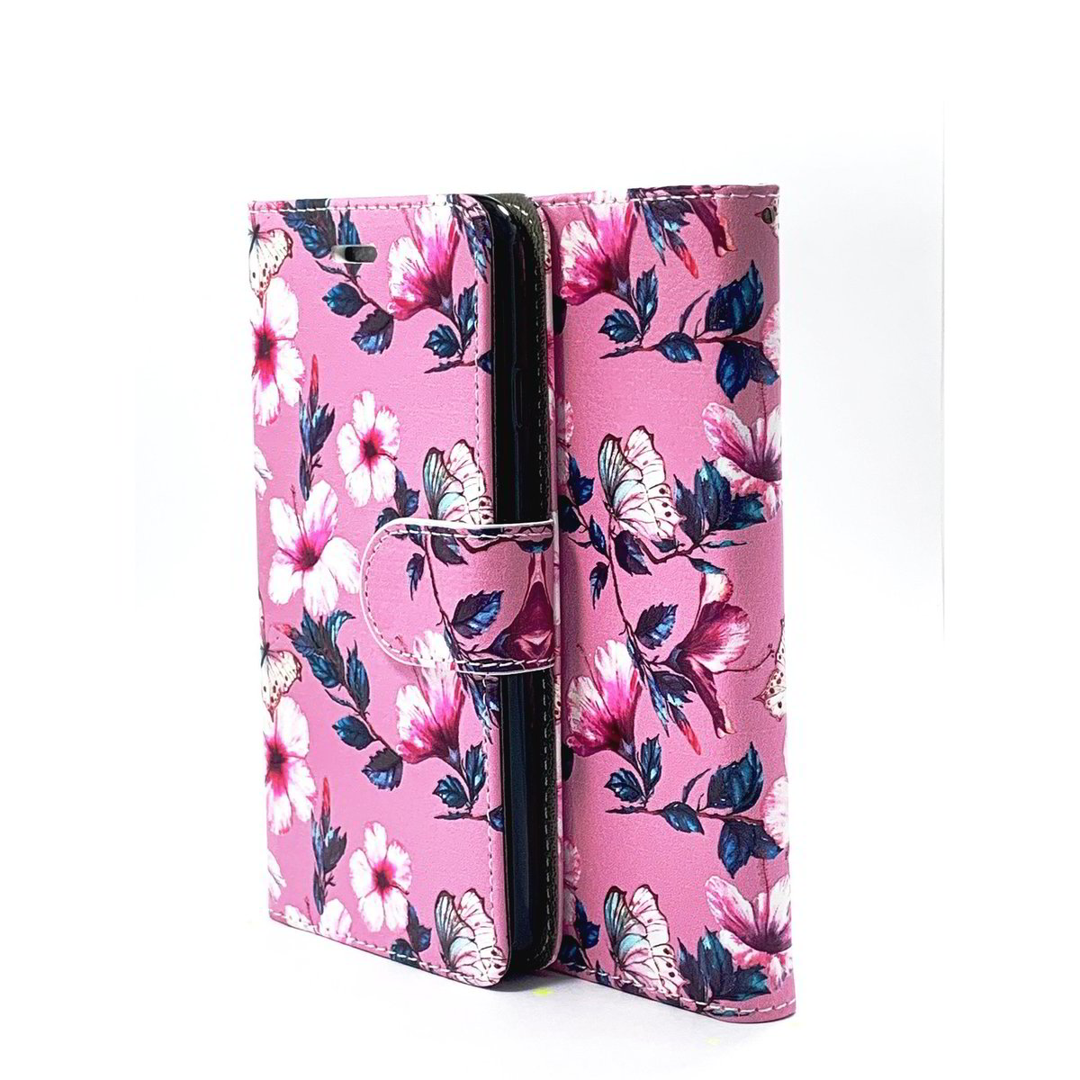 Purple Flower Wallet Case