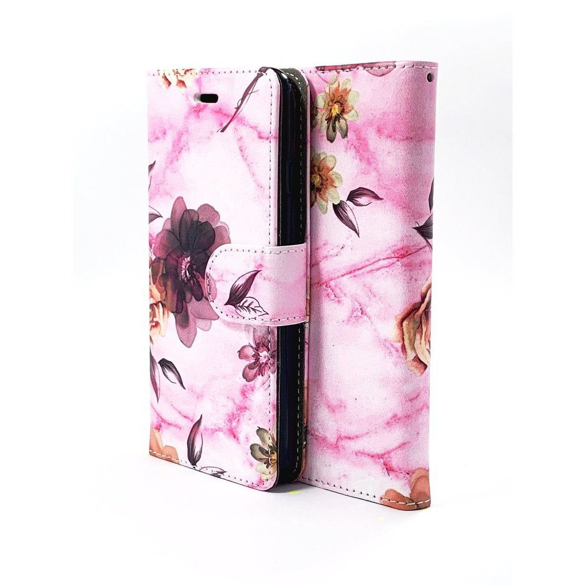 Pink Flower Wallet Case