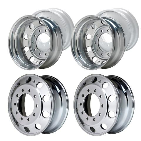 "6 - Alcoa Level One 22.5"" x 8.25"" Semi Wheels For Dually Trucks"
