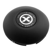 ATX Front 4 Tab Snap In Hub Cap Black