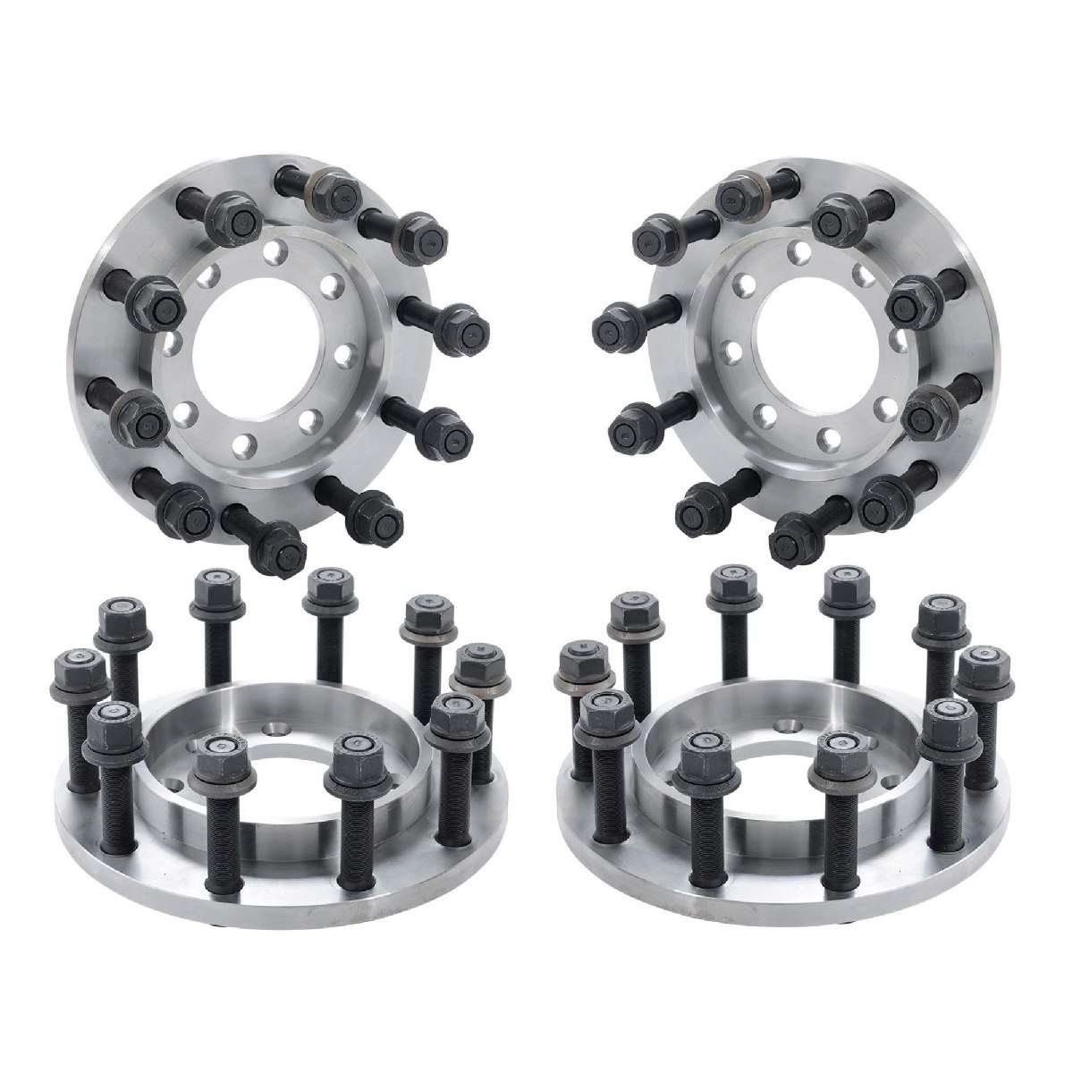 1984-1998 Ford F350 8 To 10 Lug Dually Wheel Adapter Set DP 110