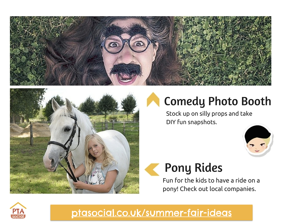 Summer Fair Ideas - Comedy Photo Booth and Pony Rides