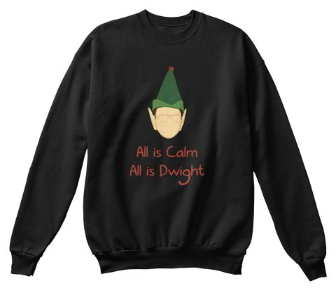 Dwight Schrute | All is Calm, All is Dwight | Ugly Christmas Sweater