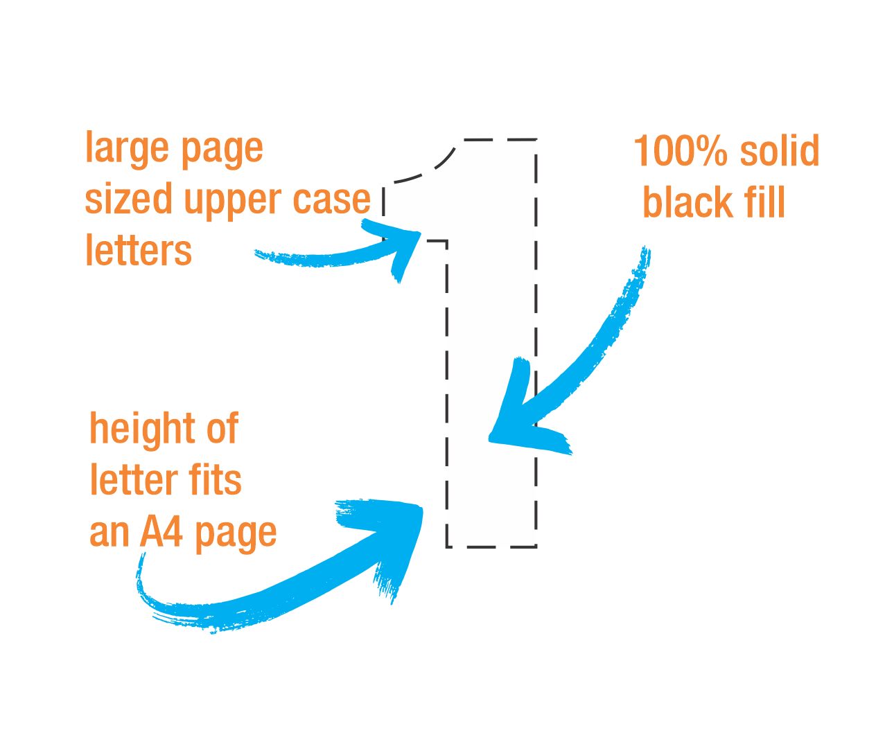 Big Letters | Big Numbers | Downloadable templates in PDF format
