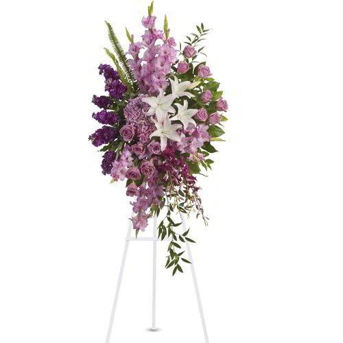 Purple Filled Standing Spray