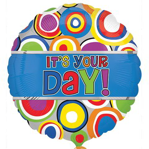 """It's Your Day!"" Foil Balloons, 18 in."