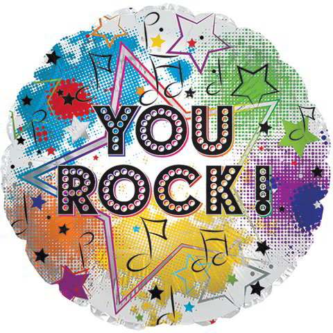 """You Rock!"" Foil Balloons, 18 in."