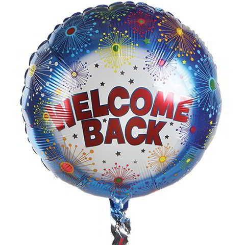 "Fireworks ""Welcome Home!"" Foil Balloons, 17"""