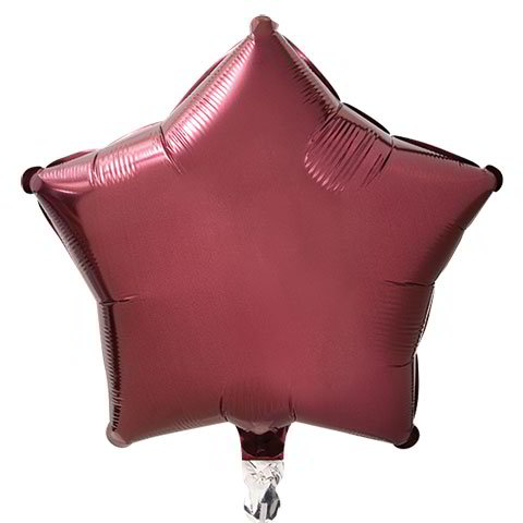 Maroon Star Foil Balloons, 18 in. w/ Message