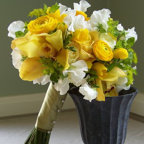 Shades of Yellow Bridesmaid Bouquet