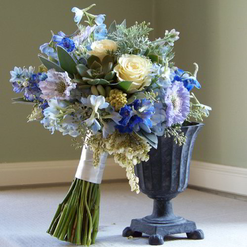 Shades of Blue Bridesmaid Bouquet