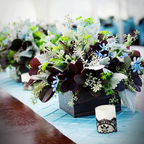 Floral Box Center Piece