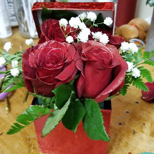 Roses In A Small Box