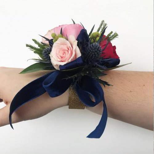 Rose Navy Corsage
