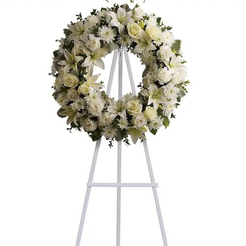 Faith Inspired Funeral Wreath