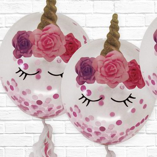 Unicorn with Roses Balloon