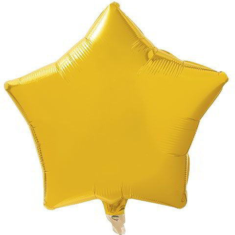 Light Gold Star Foil Balloons, 18 in.