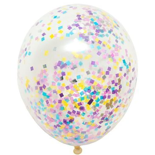 Clear Confetti Balloon