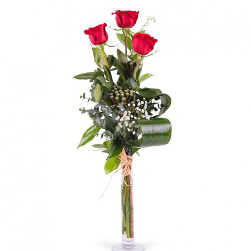 Enhanced Red Rose Bouquet