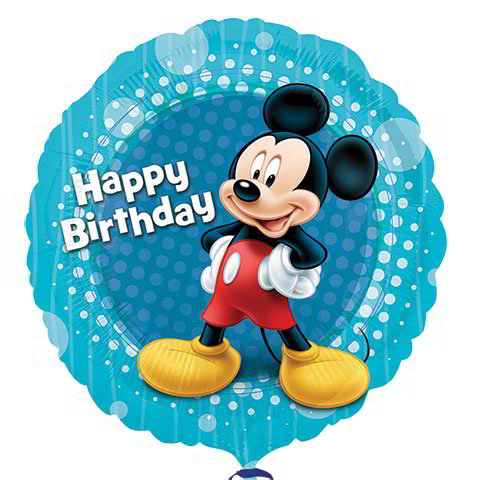 "Mickey Mouse ""Happy Birthday"" Foil Balloons, 18"""