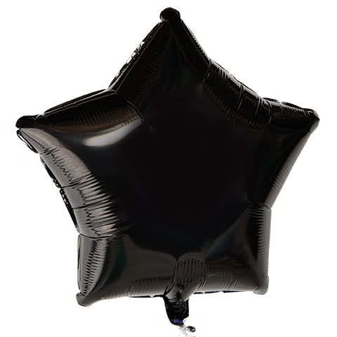 "Black Star Foil Balloons, 18"" w/ Message"