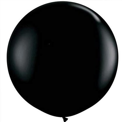 Reveal Black Latex Balloon w/ Custom Message
