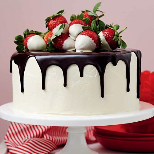 Creamery Strawberry Chocolate Cake