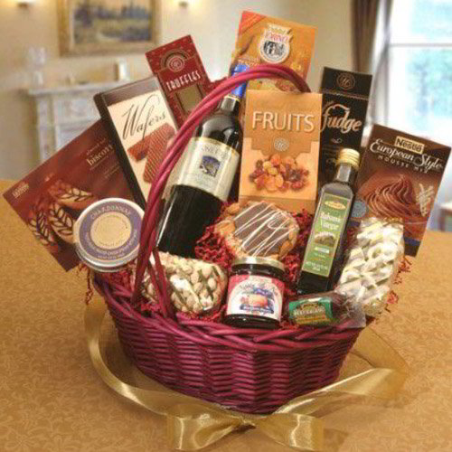 Crackers and Wine Basket