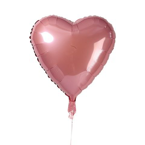 Pink Heart-Shaped Foil Balloons