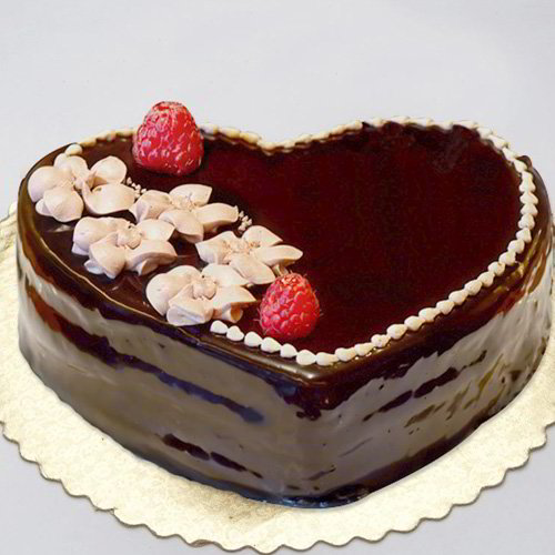 Chocolate Heart Shape Cake