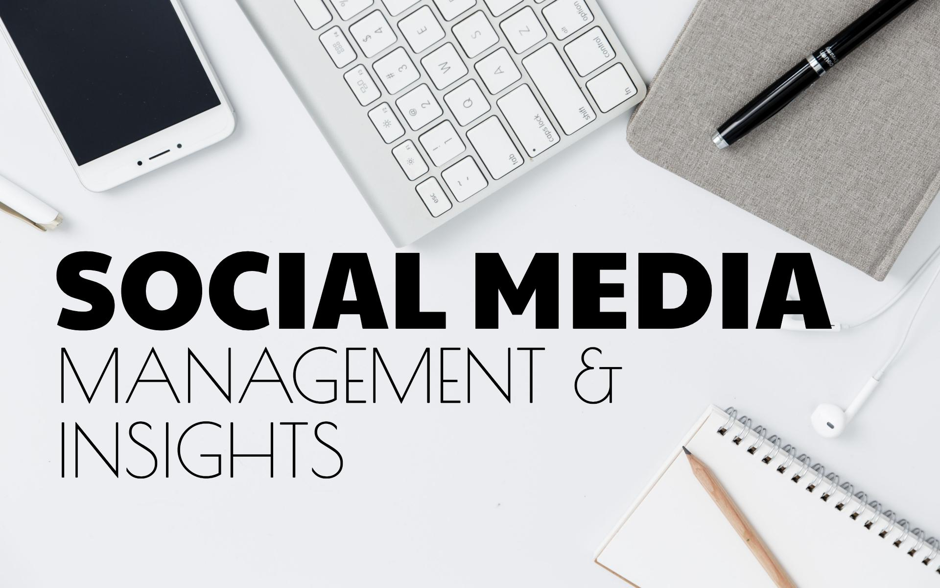 social media management and insights