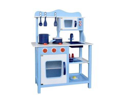 Keezi Kids Wooden Kitchen Play Set Blue