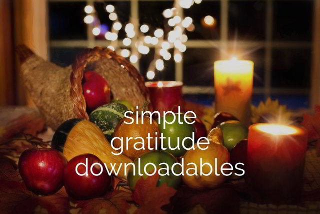 Simple Gratitude Downloadables