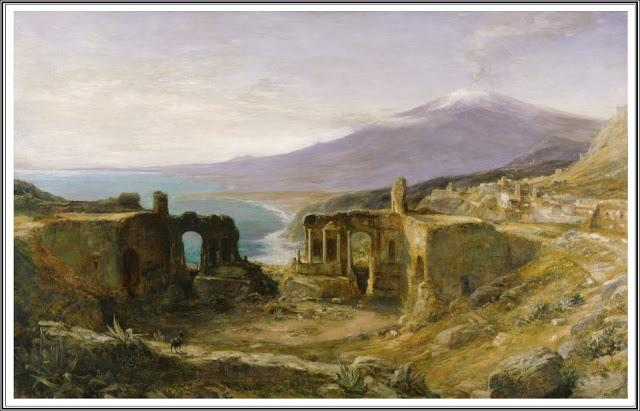 Affichage des articles triés par pertinence pour la requête greek. Trier par date Afficher tous les articles dimanche 10 décembre 2017 John MacWhirter (1839-1911), Mount Etna from the Greek Theatre, Taormina, Sicily - 1890