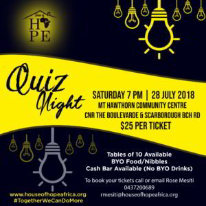 House of Hope Africa Quiz Night Event 2018