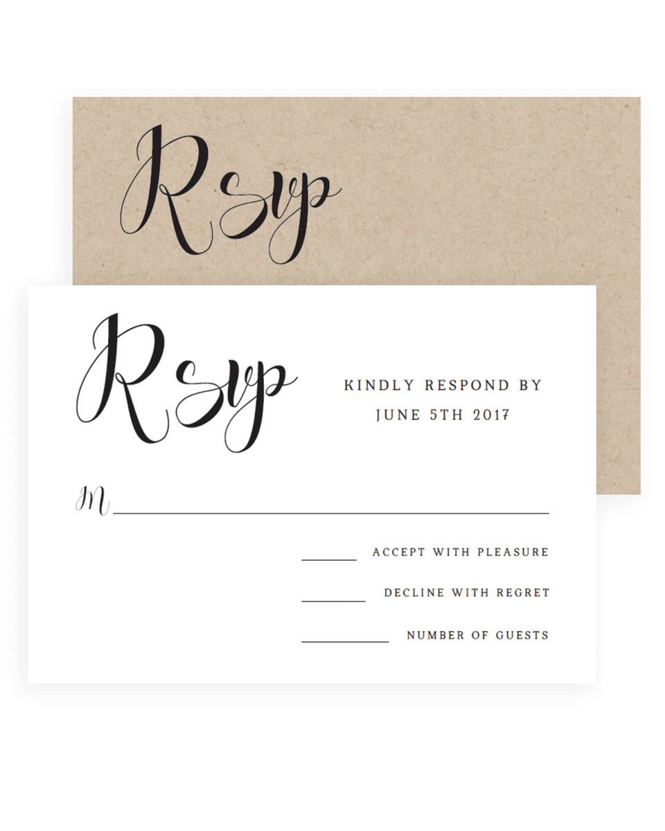 Simple Wedding Response Cards Templates