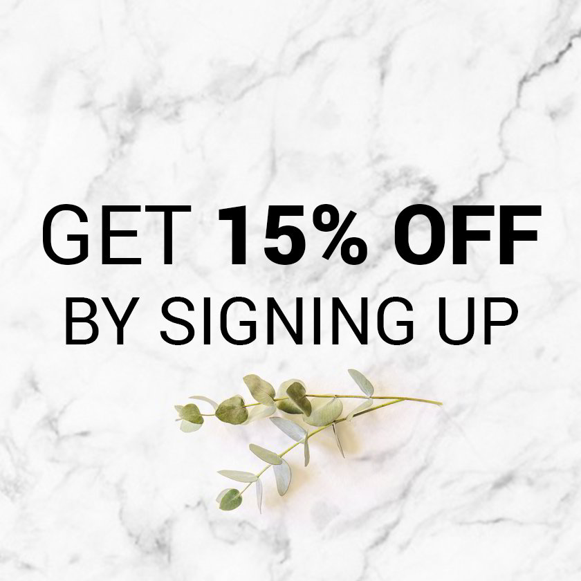 Sign up for our newsletter and get 15% off site wide