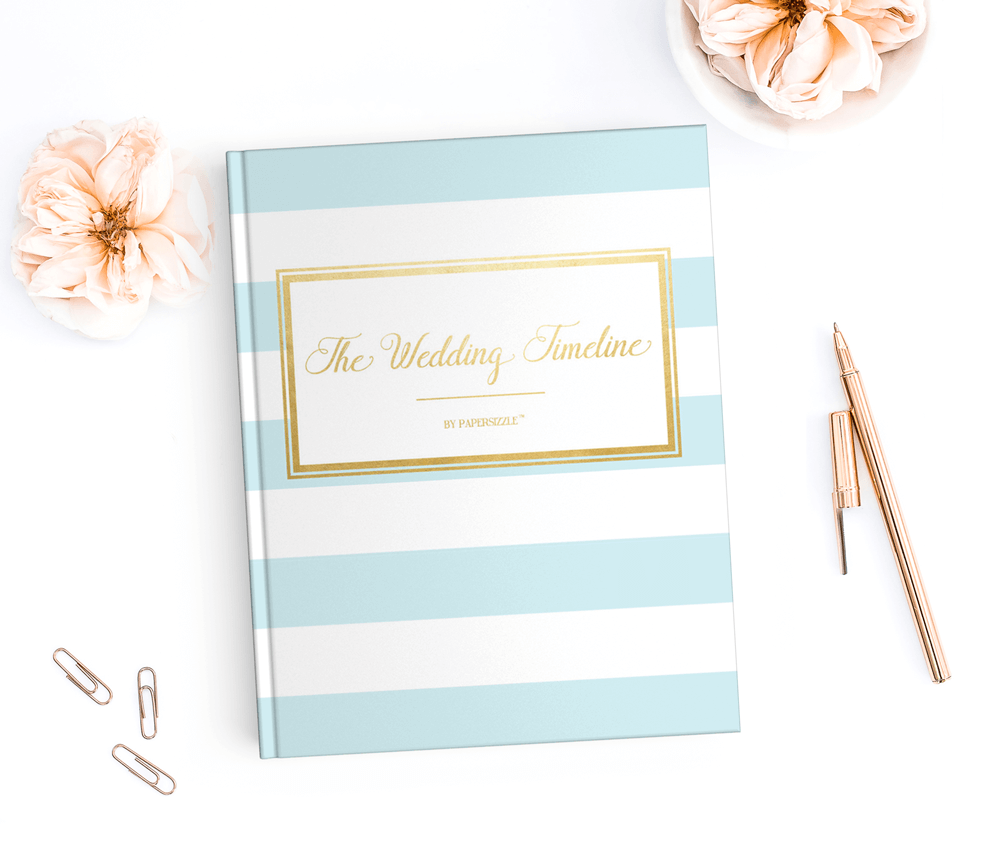 FREE printable wedding timeline planner by Papersizzle