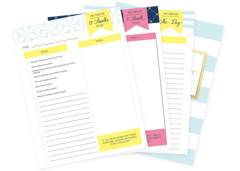 Grab your free wedding planner printable today