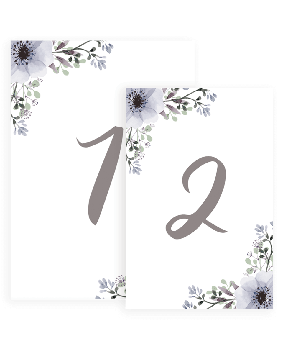 Boho Chic Wedding Table Numbers Templates - STG1