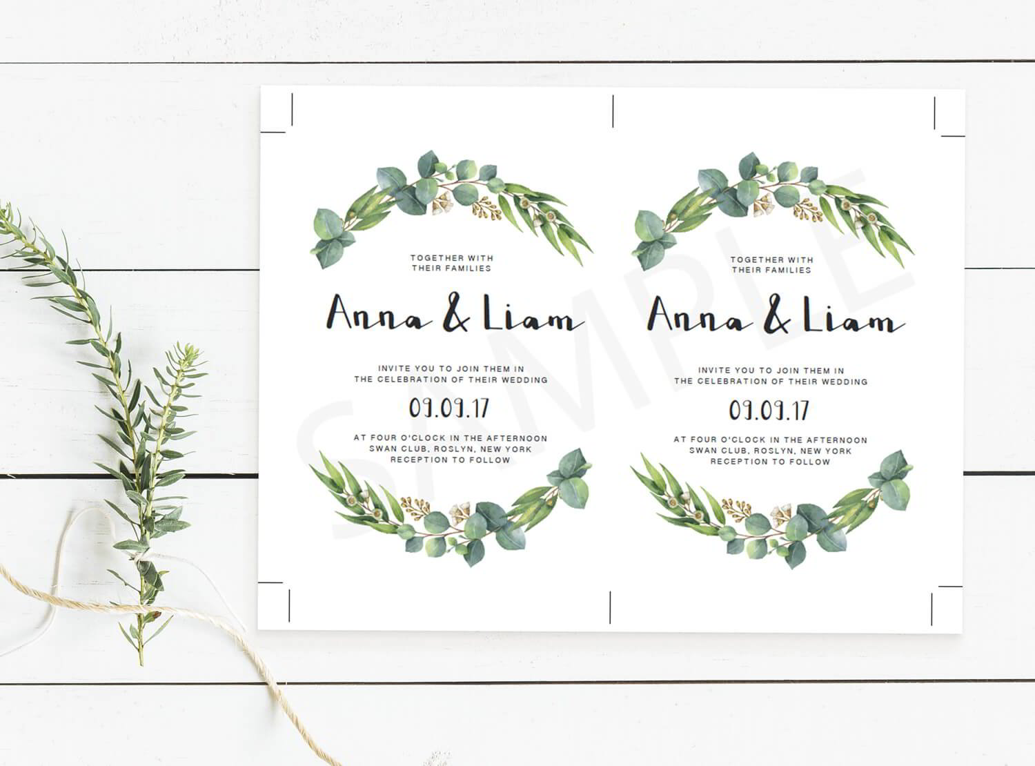 Editable wedding invitation templates free sample