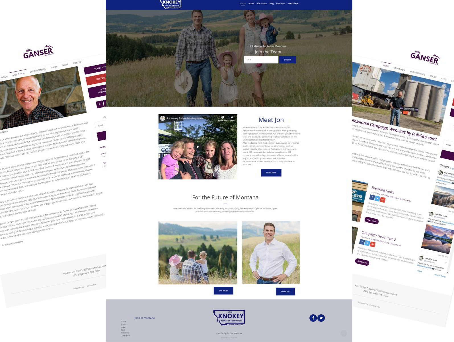 Campaign Website Example