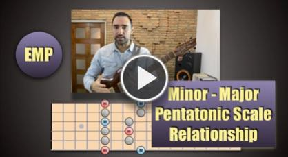 Minor - Major Pentatonic Scale Relationship