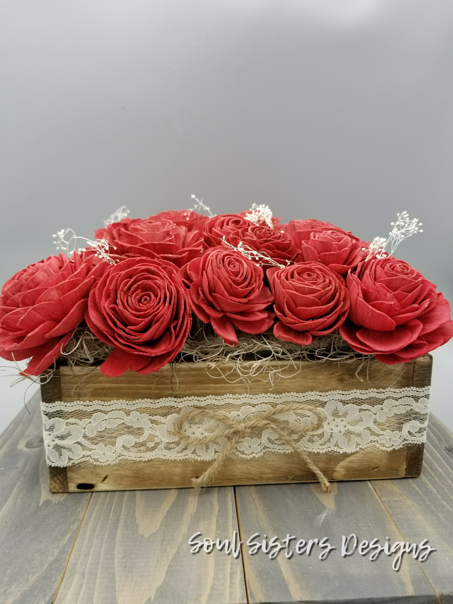 Farmhouse Rustic Box Centerpiece