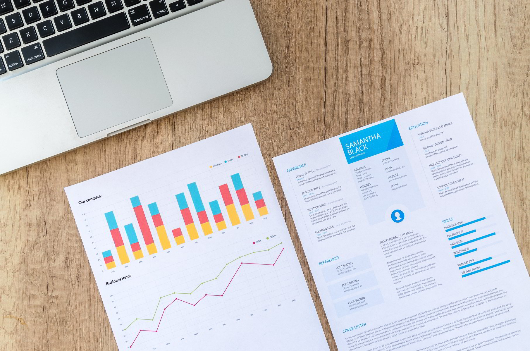 Image of resume and analytics report. Royalty Free Photo by Lukas from Pexels