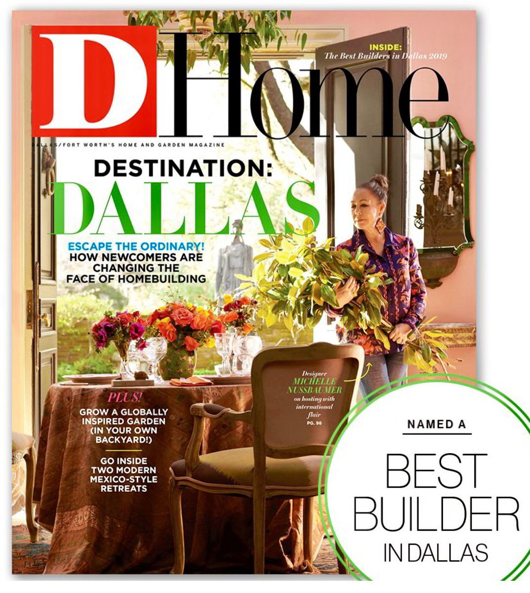 "Alford Homes wins D Home Magazines' ""Best Home Builders"" for 2019!"
