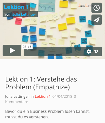 Strategie mit Design Thinking (nur Lernplattform)