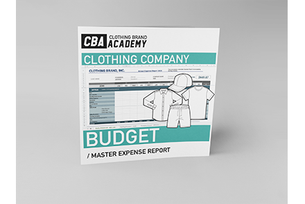 Clothing Company Budget Master Expense Report Template